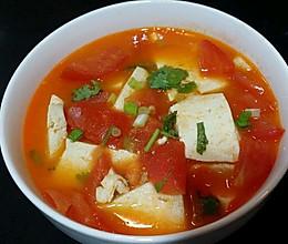 减肥之番茄豆腐汤  8月1号的做法