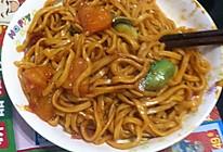 东北蔬菜炒面(家常炒面)的做法