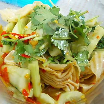 凉拌豆皮黄瓜-快速凉拌菜