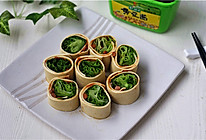 豆皮生菜卷#春天就酱吃#的做法