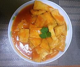 西红柿煎豆腐的做法
