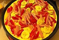 香蕉圣女果香煎火腿鸡蛋饼的做法
