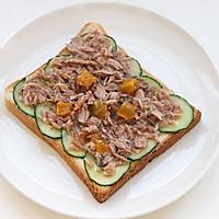 芒果金槍魚三明治的做法圖解5