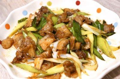 青蒜炒五花肉