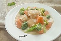 彩蔬炖鸡肉饼#好侍西趣·奶炖浓情#的做法