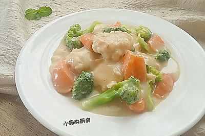 彩蔬炖鸡肉饼#好侍西趣·奶炖浓情#