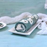 蝶豆花小熊日式棉花蛋糕卷