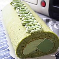 抹茶奶冻蛋糕卷(抹茶控~)的做法图解18