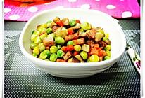 豌豆冬菇火腿丁的做法