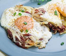 火腿土豆煎蛋的做法
