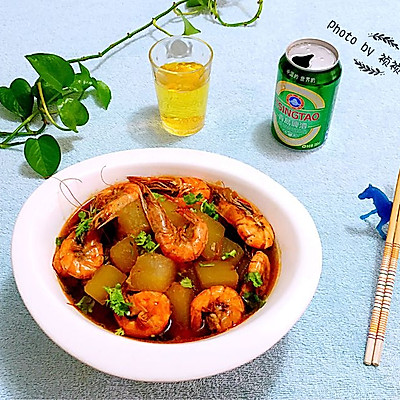海虾偶遇冬瓜