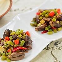 蒜苔酸豆角炒鸡杂-下饭菜/下酒菜的做法图解8