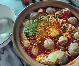 酸辣砂锅麻辣烫米线的做法