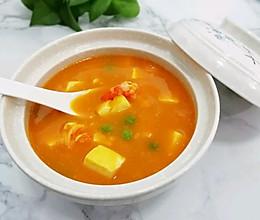 #网红美食我来做#南瓜豆腐虾仁羹的做法