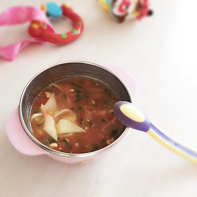 番茄鸡肉柳叶面 宝宝辅食