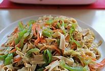 :#麦子厨房美食锅#尖椒干豆腐的做法