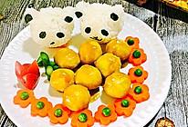 萌萌熊猫咖喱鱼蛋#咖喱萌太奇#的做法