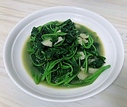 来盘蒜蓉地瓜叶, 清清好肠胃!的做法