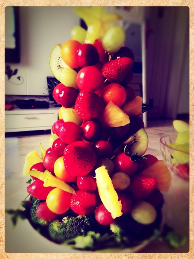 圣诞大餐_水果圣诞树怎么做_水果圣诞树的做法_豆果美食