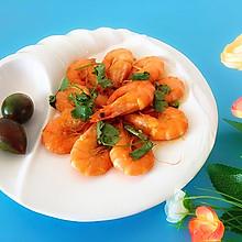 西红柿㸆大虾