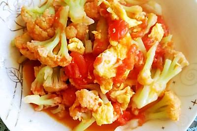 营养丰富的番茄菜花炒蛋