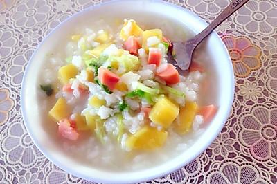红薯火腿青菜粥