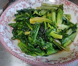 清炒莴笋叶的做法