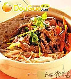 沙茶金菇牛肉煲的做法