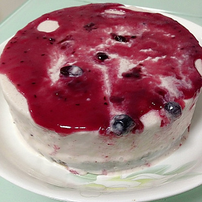 蓝莓芝士冰淇淋雪糕