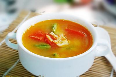 生津清暑热--番茄丝瓜汤