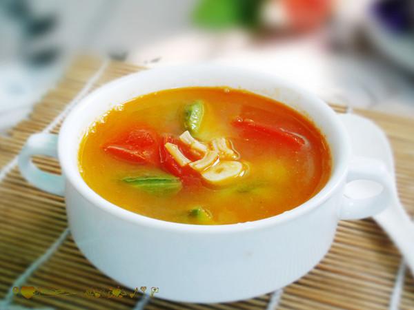 生津清暑热--番茄丝瓜汤的做法
