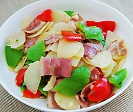 培根炒土豆片的做法