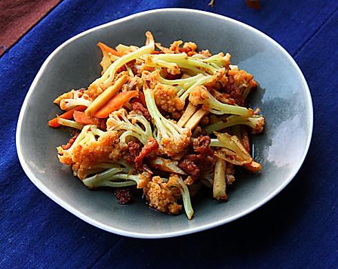 干锅松花菜