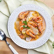白菜燒大蝦