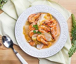 白菜烧大虾的做法