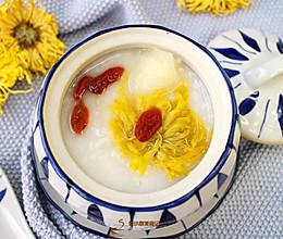 #秋天怎么吃# 菊花雪梨粥的做法