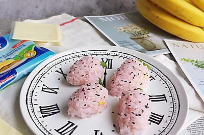 小清新的草莓饭团