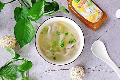 爽口榨菜肉丝汤