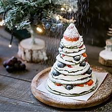 圣诞树松饼蛋糕