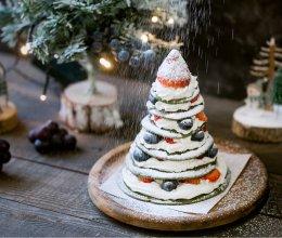 圣诞树松饼蛋糕的做法