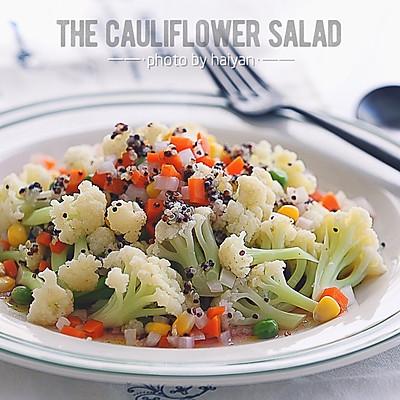 西式沙拉--三色黎麦花菜沙拉