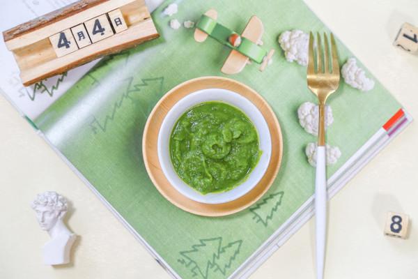 辅食日志   小白菜南瓜泥米糊的做法