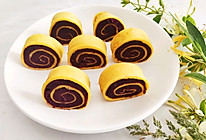 #做道懒人菜,轻松享假期#奶香紫薯蛋卷的做法