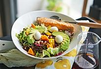 健康菜谱|牛油果三文鱼藜麦薏米色拉#硬核菜谱制作人#的做法