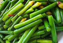 素炒蒜苔的做法