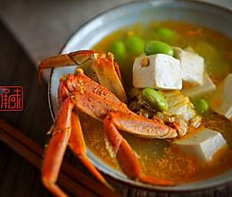 青豆蟹粉豆腐汤,给大闸蟹多一种可能的惊喜。的做法