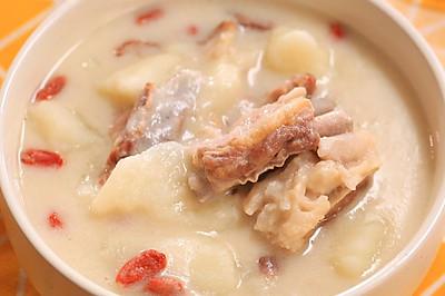 山药椰奶羊排汤