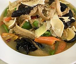 青椒肚丝汤的做法