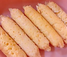宝宝辅食-不用模具也能轻松做的三文鱼香肠的做法