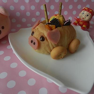 萌猪汽车面包